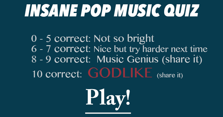 Insane Pop Music Quiz