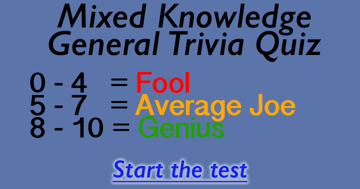 Are you a Fool or a Genius?