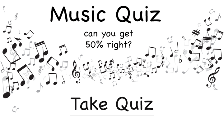 Can you get 50% right in this chalenging music quiz?