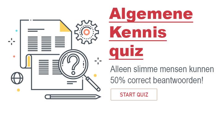 Ben jij slim genoeg om meer dan 50% juist te beantwoorden in deze Algemene Kennis quiz?