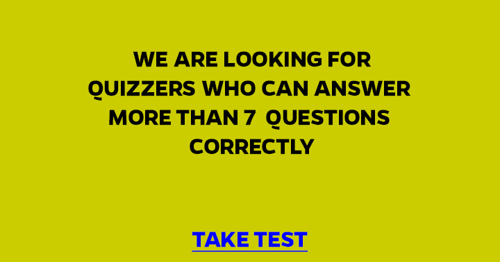 Are you the quizzer we are looking for?