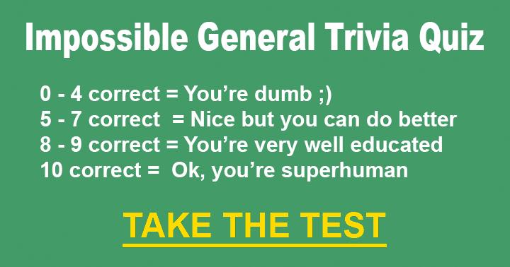 General Trivia