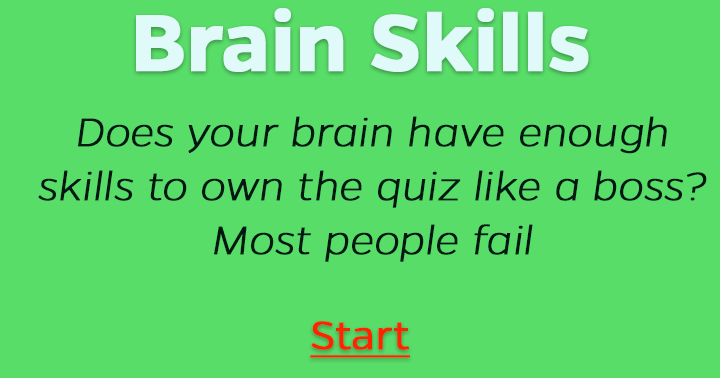 Brain skills, do you have them?