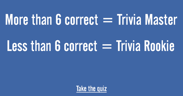 Are you a trivia master?