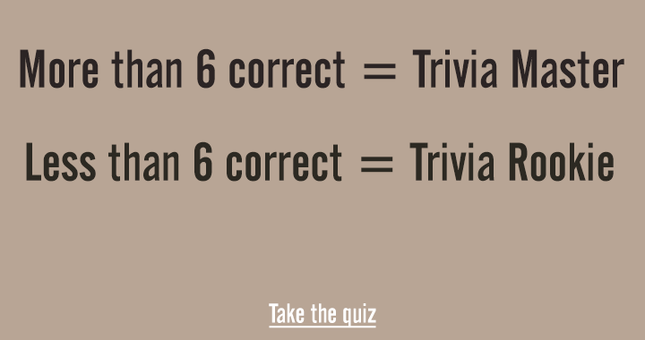 Are you a quiz rookie or master?