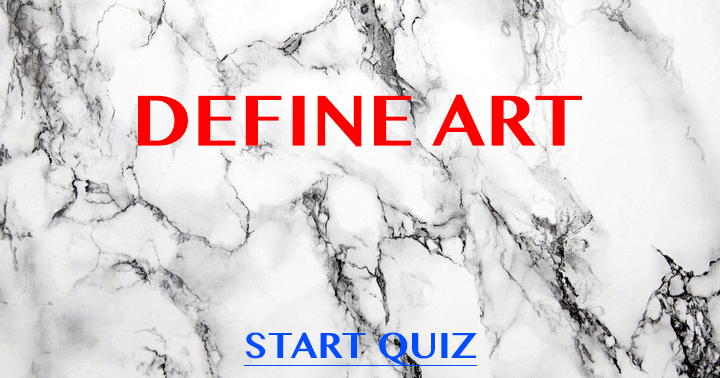 Find the right answers in this hard Art Quiz!