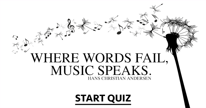 If you love music, you love this quiz!