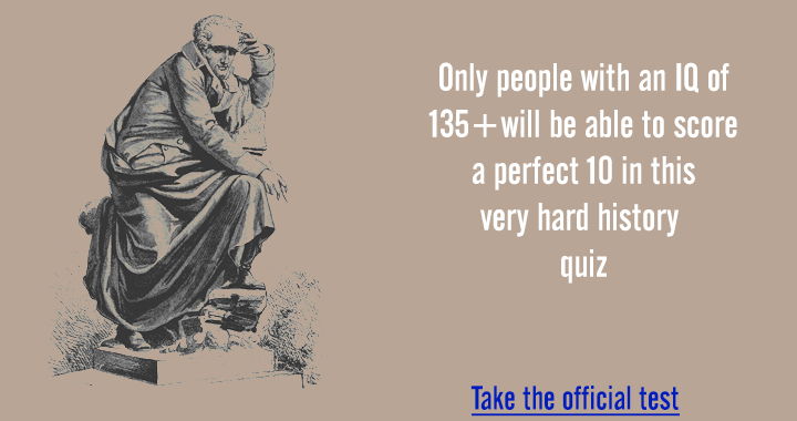 Are you smart enough to score a perfect 10 and become a member of the 135+ club?