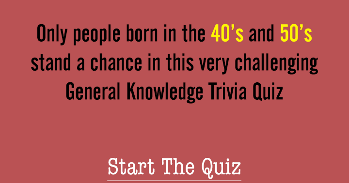 Only seniors stand a chance in this quiz