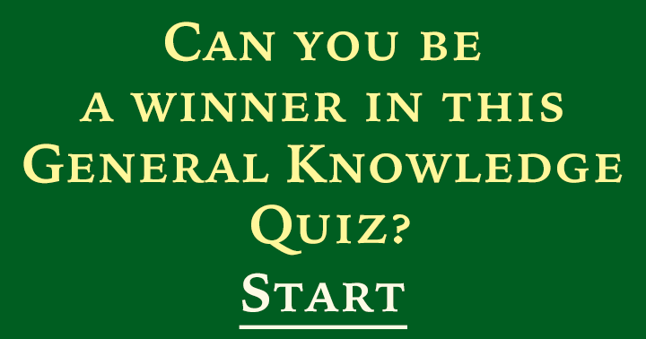 This quiz is made for winners only