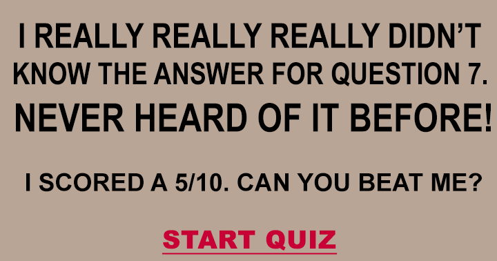 Do you know the answer for question 7
