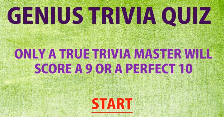 Are you a true trivia master?