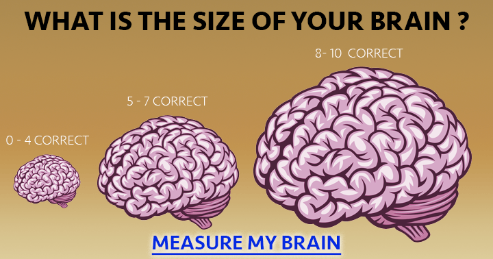 Take the quiz and measure your brain.