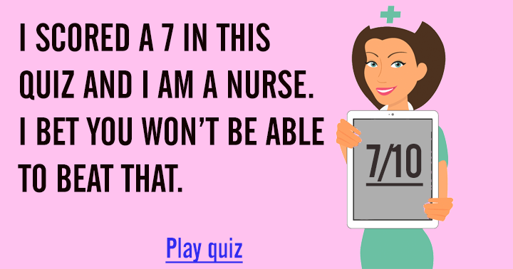 Can you beat me in this medical quiz?