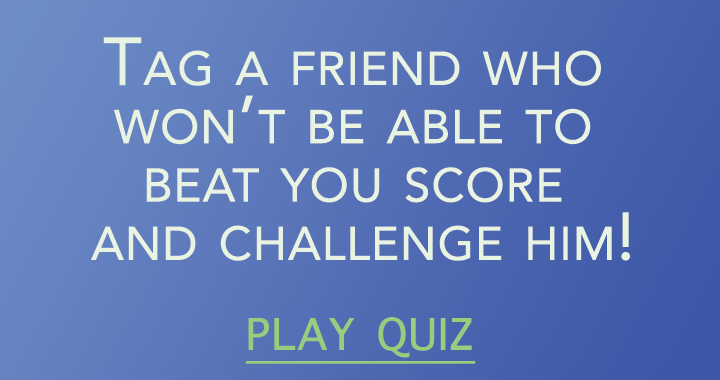 Tag a friend who won't beat your score!