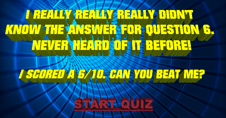Do you know the answer to question 6?