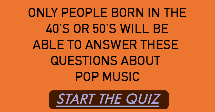 Can you ace this pop quiz?