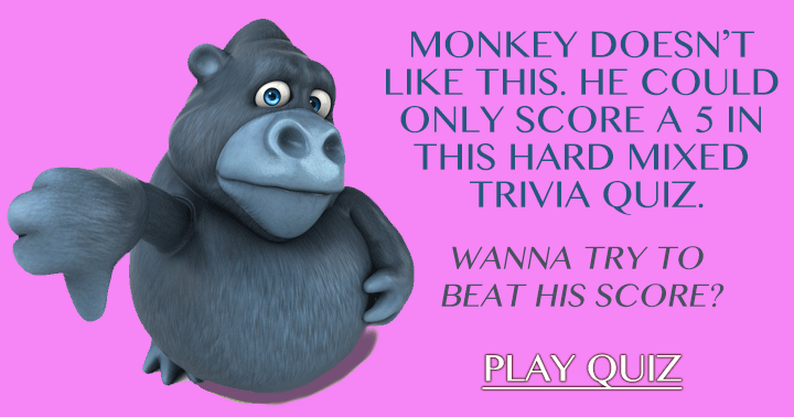 This is not a happy monkey, will you be happy after taking this quiz?
