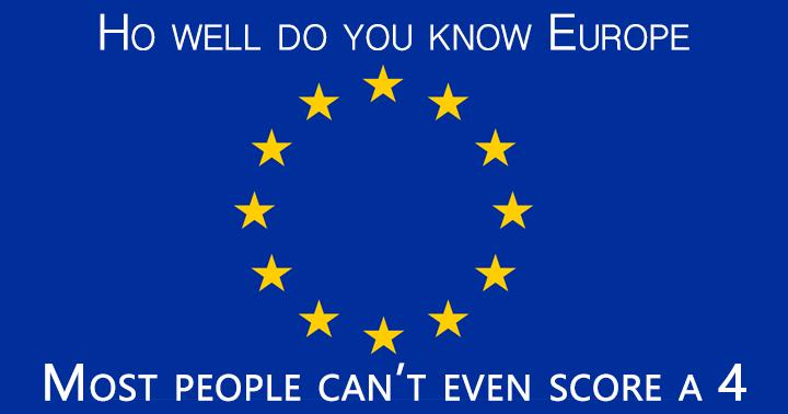 Quiz for the intelligent  European