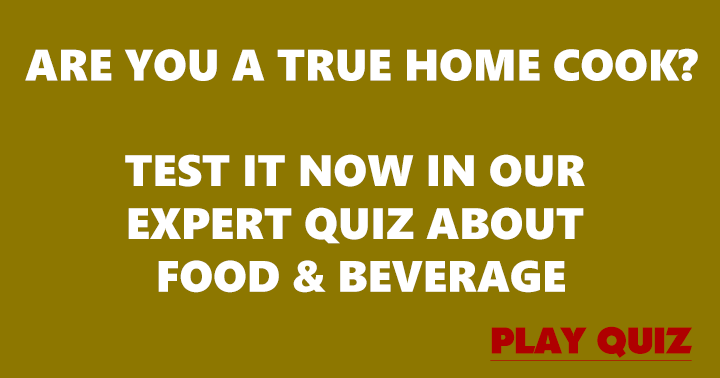 Food & Beverage Quiz