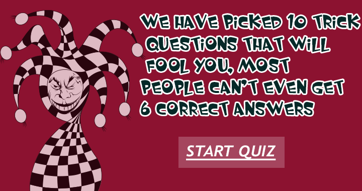 The quiz that will fool you