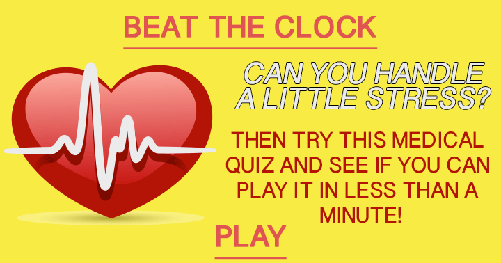 Can you play this quiz under a minute?