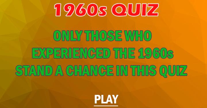 1960s Quiz