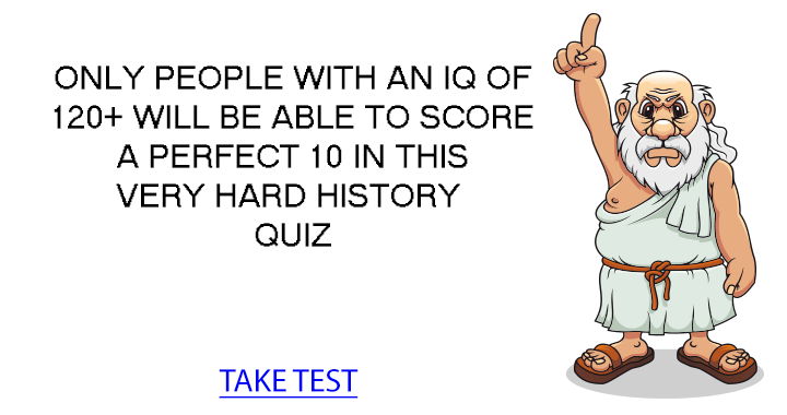 Impossible History Quiz 90% of the  people struggle with