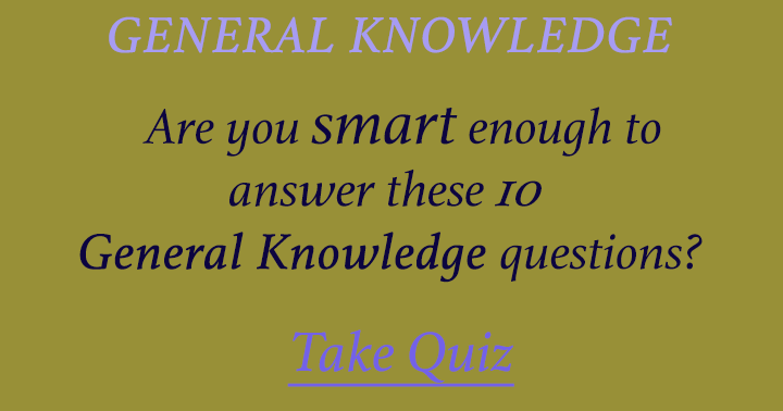 Only smart people have the answers to these 10 questions!