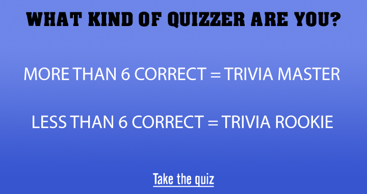 What kind of quizzer are you?