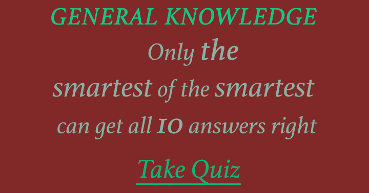 Are you one of the smartest?