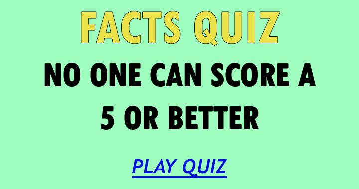 Facts Quiz