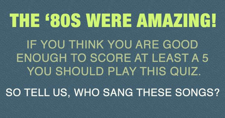 Pop Music Quiz!