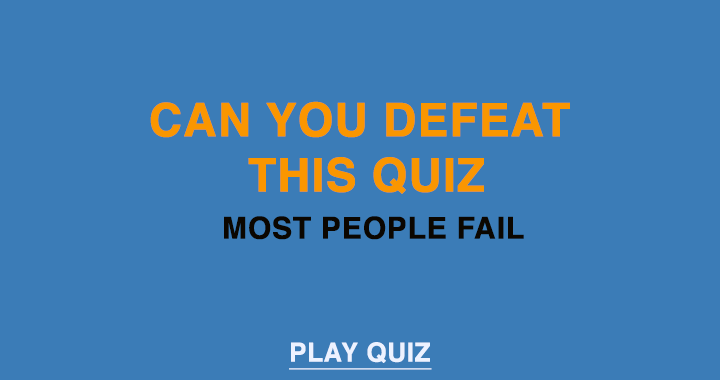 Can you defeat this quiz