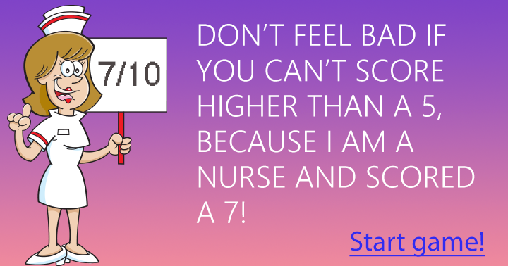 Pretty sure you can't beat this nurse!