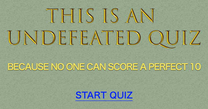 Can you defeat this one?