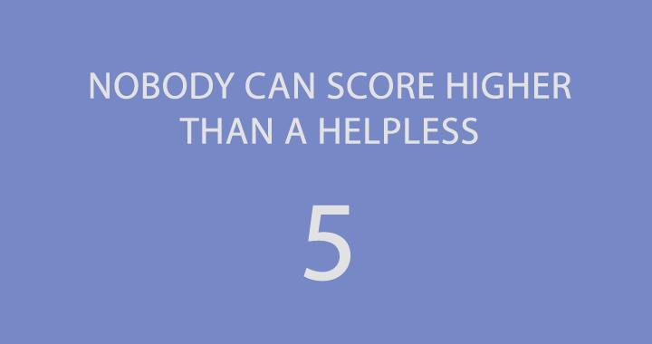 So if you score a 4 it's pretty high!