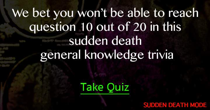 20 Trivia Questions sudden death style