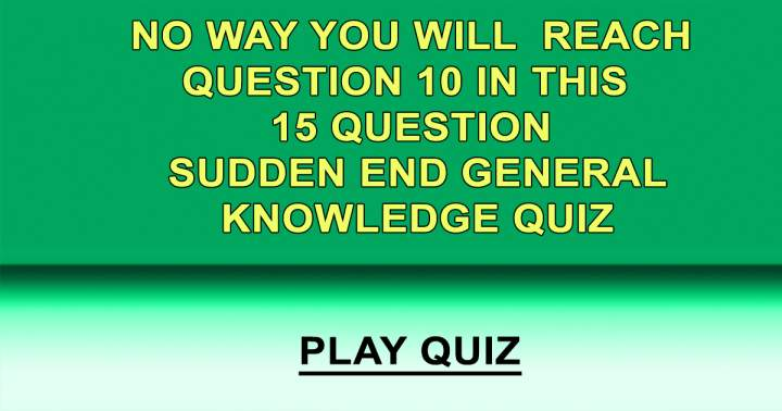 15 Sudden End Questions