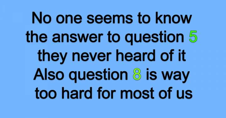 No one seems to know the answers