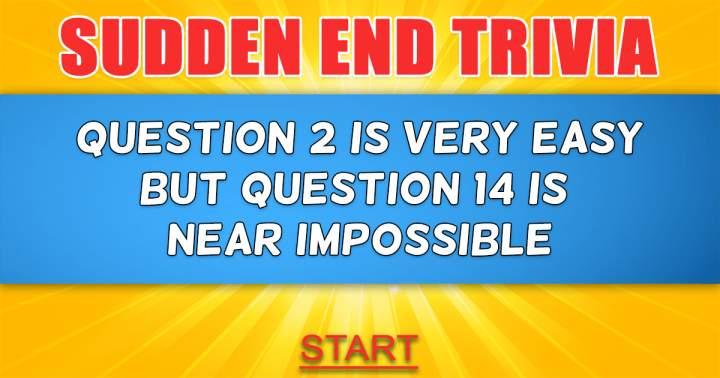 Sudden End Trivia